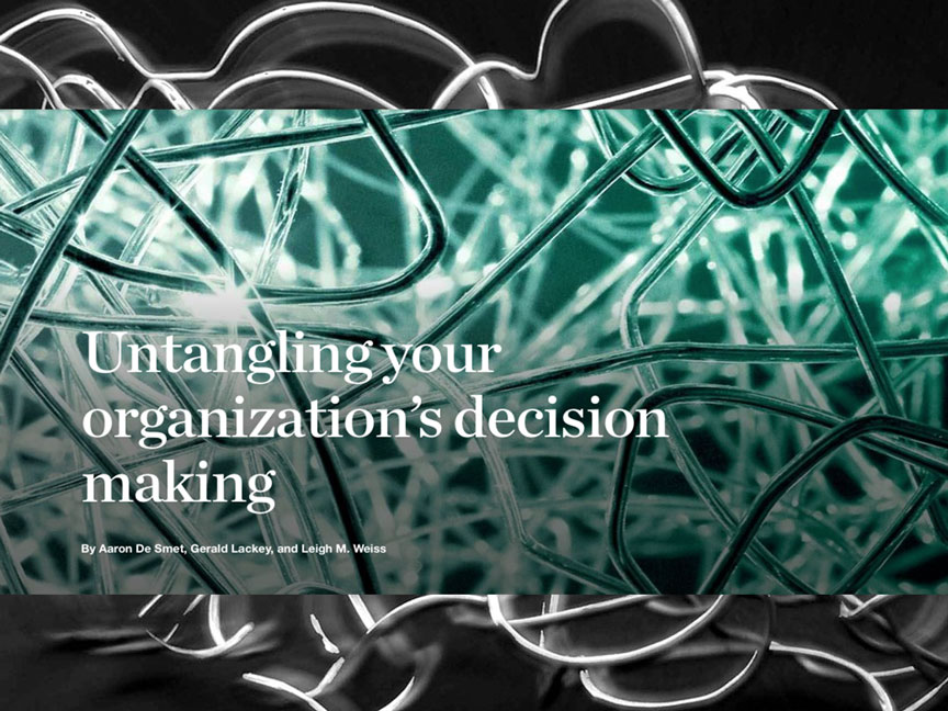 McKinsey article on the path to better decision-making